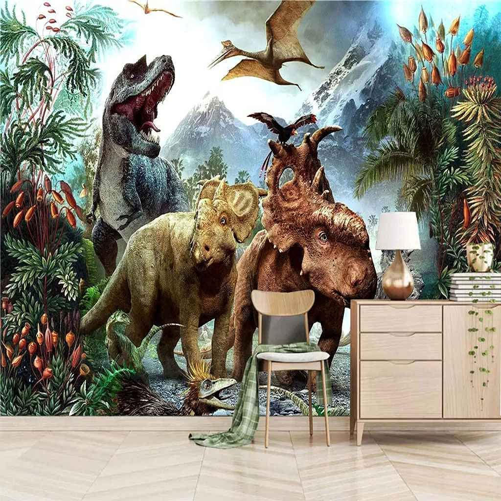FVGKYS Wall Art Mural Max 81% OFF Custom Dino 3D Animal Forest Stickers 5 ☆ popular