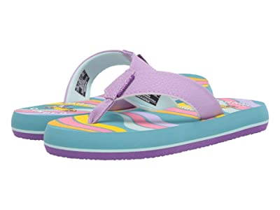 Freewaters Supreem Flip-Flops (Little Kid/Big Kid) (Purple/Teal) Shoes