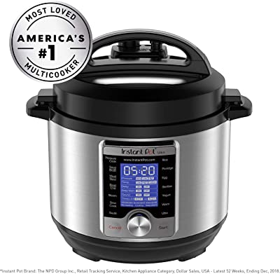 Instant Pot Ultra 3 Qt 10-in-1 Multi- Use Programmable Pressure Cooker, Slow Cooker, Rice Cooker, Yogurt Maker, Egg Cooker, Sauté, Steamer, Warmer, and Sterilizer, Silver