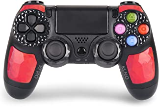 Wireless Controller for Playstation 4 – Joystick with Sixaxis, Bluetooth, Super Power, Micro USB, Multi-Touch Clickable Touch Pad (RED)