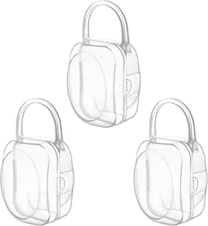 LANEYLI Pacifier Box Pacifier Shield Case Pacifier Clip Holder - Pack of 3