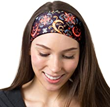 RiptGear Wide Headbands for Women - Workout Headbands for Yoga Running and Gym - Cute Thick Non-Slip Sweat Bands