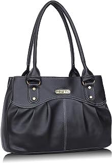 Fristo Women's Handbag (FRB-349_Black)