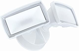 Good Earth Lighting LED Outdoor Security Flood Light, 2100 Lumens, 5000K, Dusk to Dawn Flood Light, Manual Override, 50,000 Hours, Direct Wire, Weatherproof, ETL & Energy Star Certified, White Finish