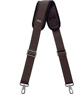 """Shoulder Strap, ZINZ 57"""" Padded Adjustable Shoulder Bag Straps for Bags with D-Ring (Brown, 145cm)"""