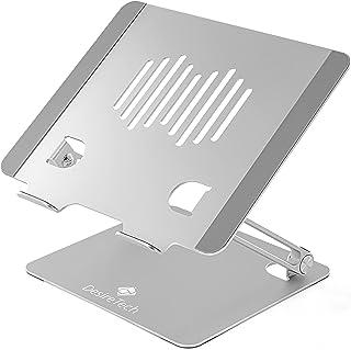 Stativ för bärbar dator – stående justerbar datorhöjare för notebook, surfplatta med kylvärmeventil – vikbar, aluminium, f...