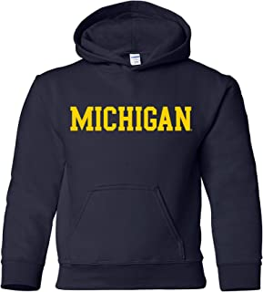 NCAA Basic Block, Team Color Youth Hoodie, College, University