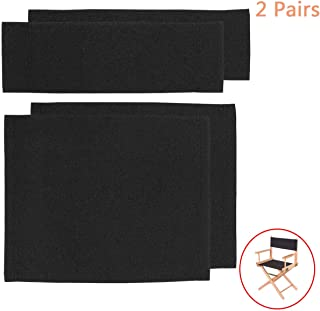 2 Set Replacement Cover Canvas for Directors Chair, Black