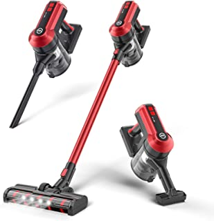 MooSoo Aspirador Escoba Sin Cable, 4 en 1 Vertical Escopa y de Mano Aspirador Sin Cable, 23kPa, 35 Minutos, Capacidad 1.2L...