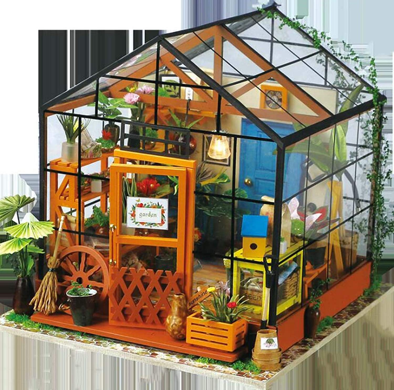 JUNJUNA DIY Cabin Assembly Model Kathy Flower House Creative