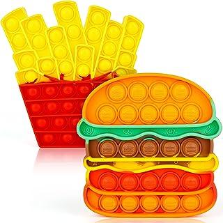 iTechjoy Fidget Toys Push It، Bubble Pop Popping Sensory Fidget اسباب بازی برای بزرگسالان و کودکان ، حباب فشار آن اسباب بازی استرس برای اوتیسم ، بازی پوپر حسی بازی برای بچه ها پسران دختر بچه ها ، همبرگر