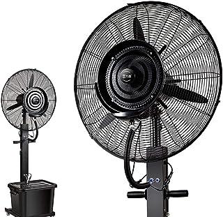 Ventilador de servicio pesado Potente ventilador de enfriamiento oscilante silencioso, ventilador de pedestal con potente - Motor de CC de baja energía, 3 modos de funcionamiento, 90 ° de oscilación