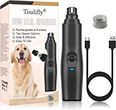 Krallenschleifer Hund, Krallenschleifer, Ultra Quiet Schnurlos Elektrischer Nagelschleifer für Hunde, mit 2 Geschwindigkeiten und USB Wiederaufladbar Tiere Haustier Krallenpflege für Hunde Katzen