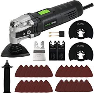 GALAX PRO 3.5A 6 Variable Speed Oscillating Multi Tool Kit with Quick Clamp System Change and 30pcs Accessories, Oscillating Angle:4° for Cutting, Sanding, Grinding