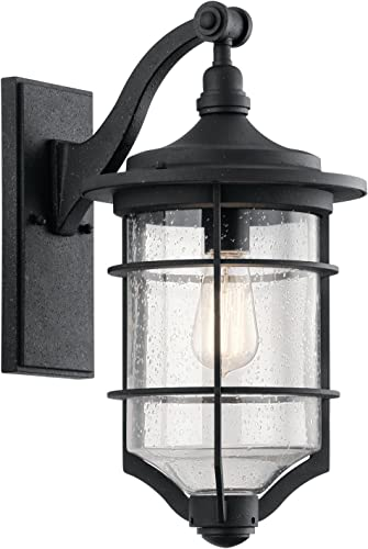 wholesale Kichler 49127DBK One Light Outdoor Wall high quality sale Mount , Black online