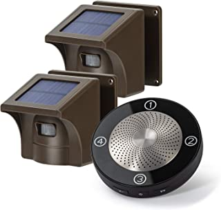 1/2 Mile Long Range Solar Wireless Driveway Alarm Outdoor Weather Resistant Motion Sensor & Detector-Security Alert Syste...