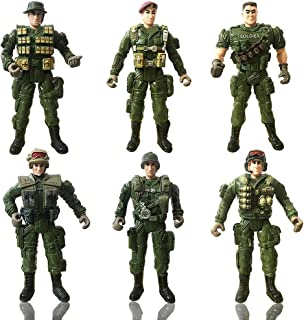 CORPER TOYS Action Figure Army Soldiers Toy Special Forces Military Combat Model Movable Army Men Playsets - 6PCS