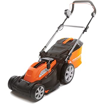 Yard Force 40V 34 cm Cordless Lawnmower with Lithium Ion Battery and Quick Charger LM G34
