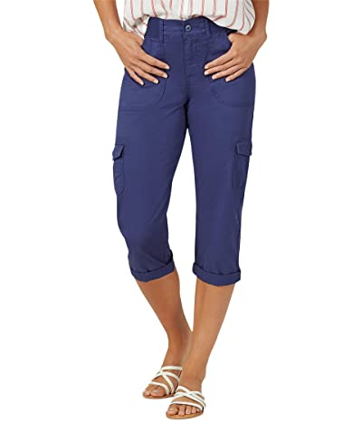 Lee Relaxed Fit Austyn Knit Waist Cargo Capris (Ink Blue) Women