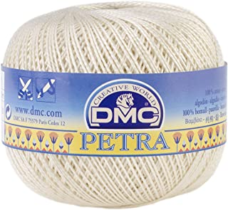 DMC Petra Crochet Cotton Thread, Size 5-Ecru (331754)