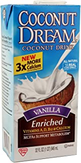 COCONUT DREAM Enriched Vanilla Coconut Drink, 32 fl. oz. (Pack of 12)