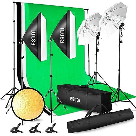 Esddi Professionelles Fotostudio Set 2 6m X 3m Kamera