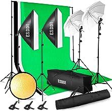 ESDDI کیت روشنایی قابل تنظیم حداکثر اندازه 2.6Mx3M پس زمینه سیستم پشتیبانی 3 رنگ پس زمینه پارچه استودیو عکس استودیو مجموعه پایه چراغ مداوم چتر با کیف قابل حمل
