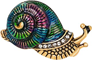 MagiDeal Delicate Colorful Enamel Oil Drip Snail Animal Lovely Brooches For Womens
