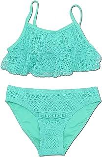 Niñas Niños Dos Pieces Bikini Set Lace Swimsuit 2 Piece Bañador Swimwear