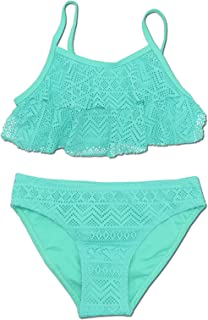 SHEKINI Niñas Niños Dos Pieces Bikini Set Lace Swimsuit 2