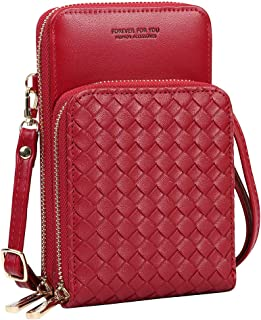 Cynure Women's PU Leather Crossbody Shoulder Bag Small Zip Phone Handbags Purse