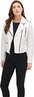 Women's Faux Leather Contemporary Asymmetrical Motorcycle Jacket