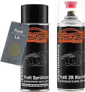 TRISTARcolor Autolack 2K Spraydosen Set für Ford LA Brisbane Brown Perl Metallic/Lunar Sky Metallic Basislack 2 Komponenten Klarlack Sprühdose