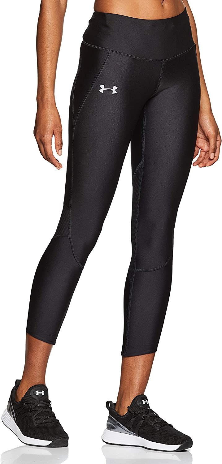 Under Armour Women's Fly Fast Crop Tights, 黒/Reflective, Medium