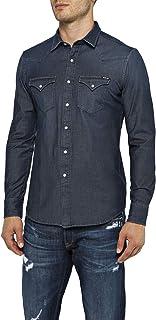 Replay Denim Hyperflex Shirt Navy Blue