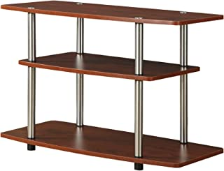 Convenience Concepts Three Tier TV Stand, Cherry