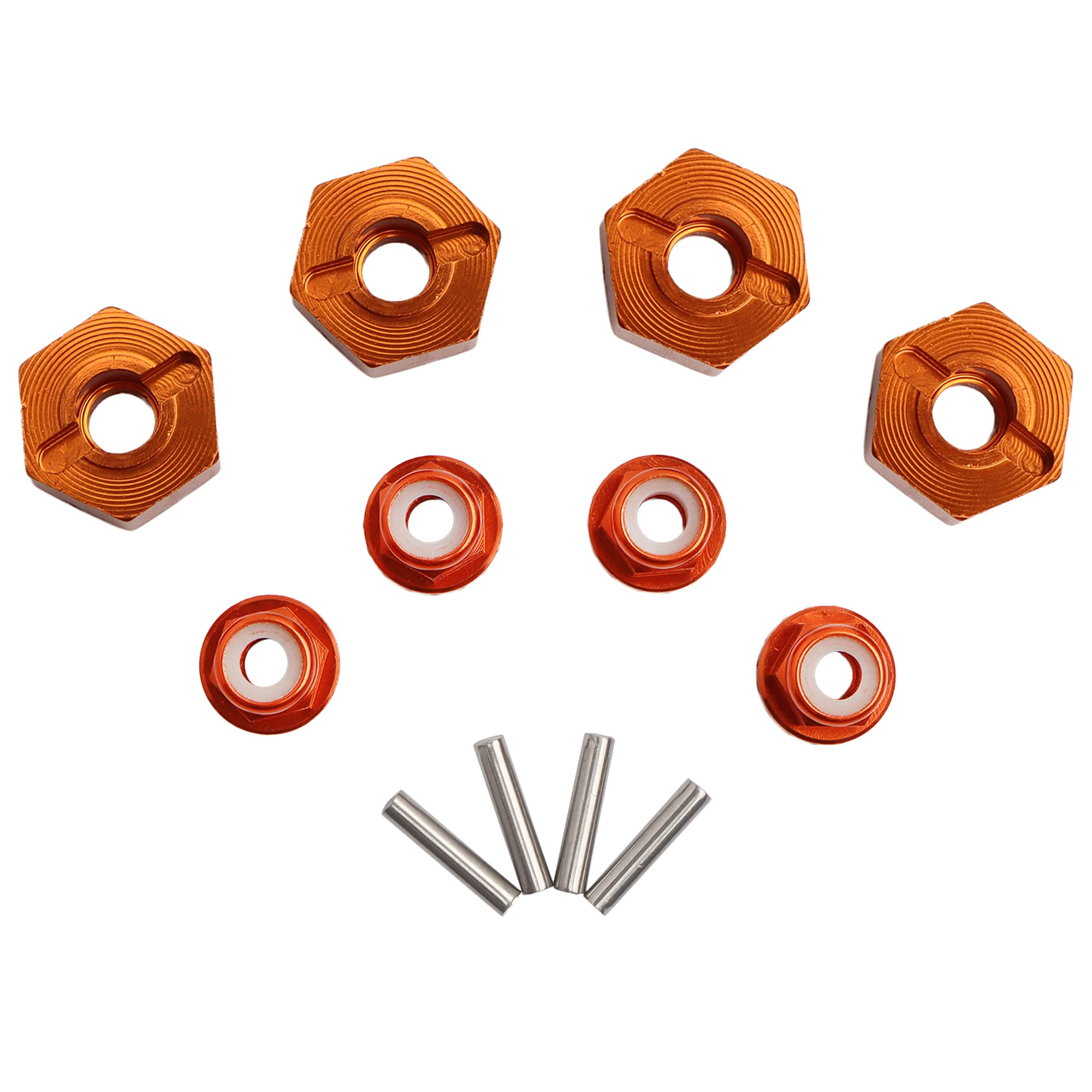 GDOOL 12mm Wheel Hex Hubs Drive Adapter 5mm Thick & Flange o