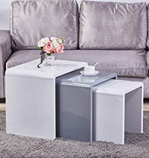 Best white gloss nest of 3 tables Reviews