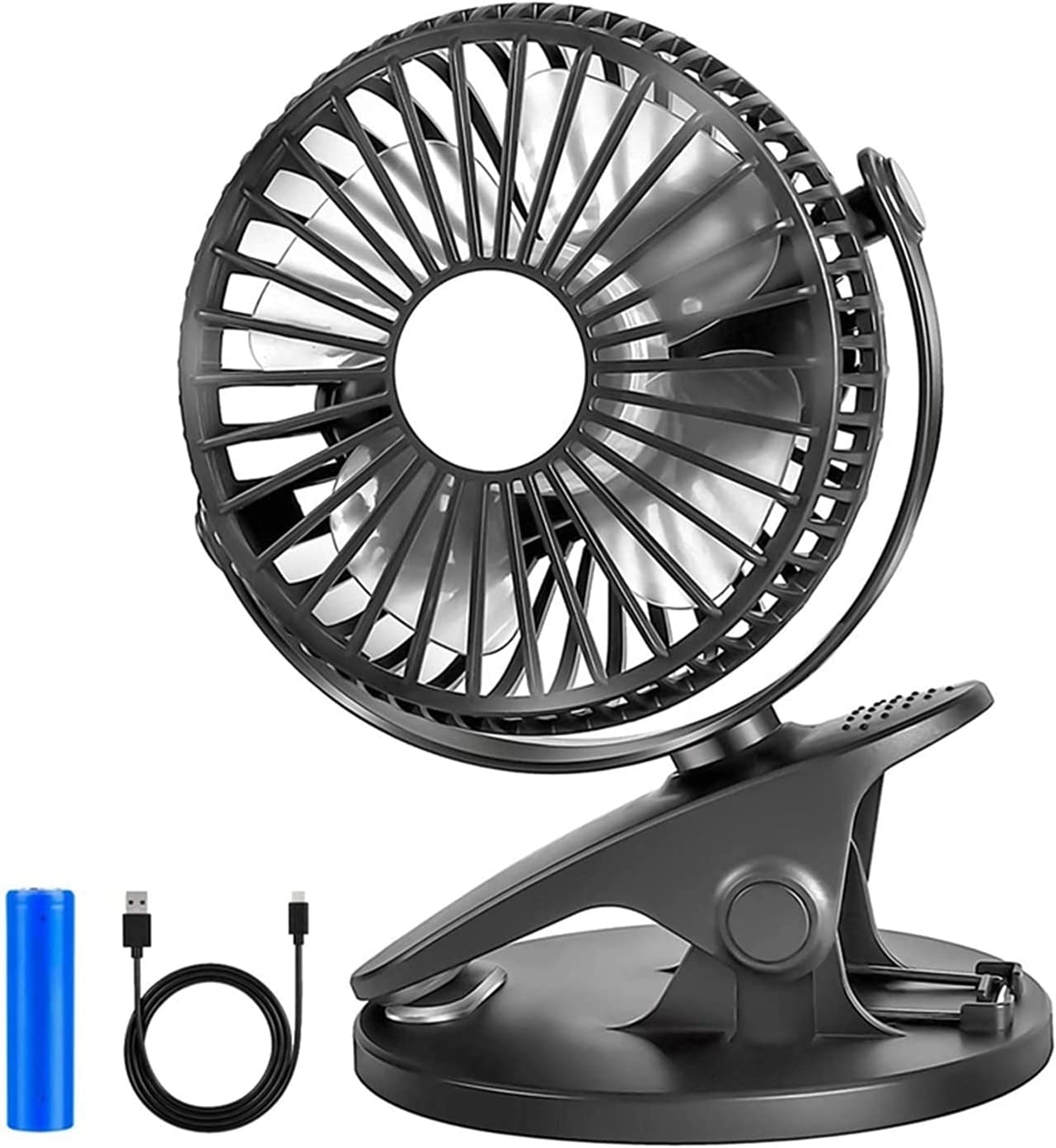 Lingwu Clip On Fan 55% OFF for Fresno Mall Baby Rechargeable Stroller Portable Oper