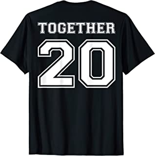Together Since -YOUR DATE Couple Anniversary Shirts w/ Dates