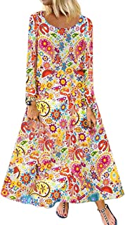 Severkill Womens Casual Tops Hem Splice Flare Sleeve Plus Size Loose Linen Flowy Loose Peplum Boho Blouse T-Shirt