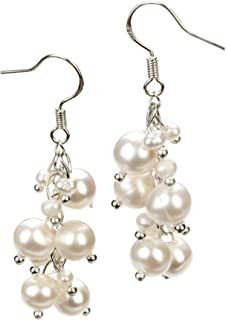 Brisa White 3-7mm A Quality Freshwater Alloy Cultured Pearl Earring Pair