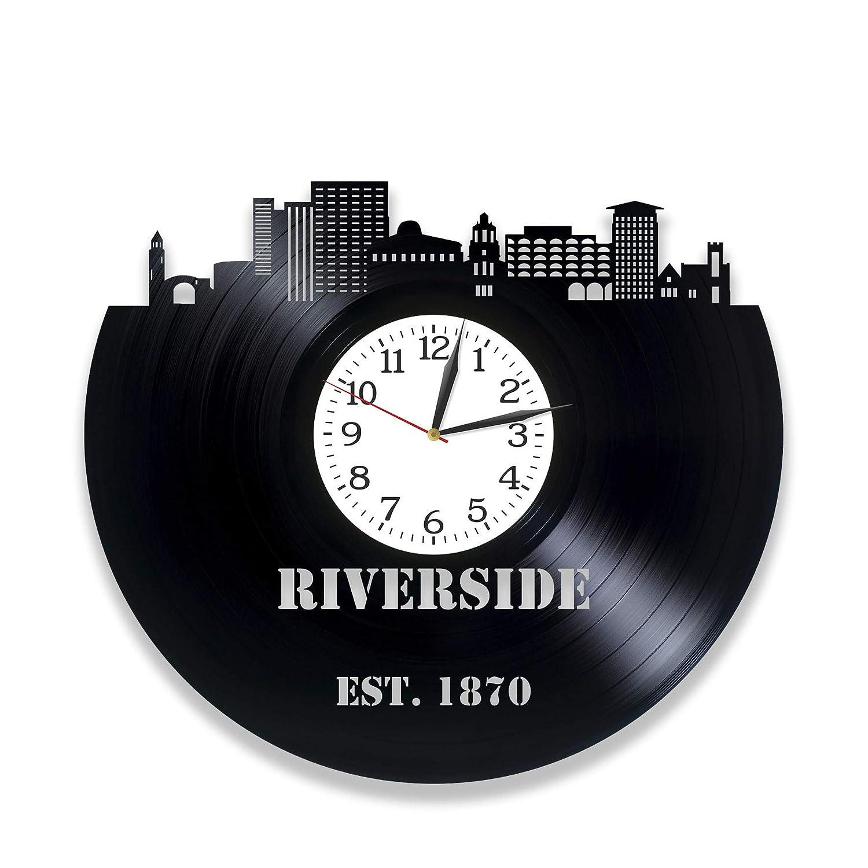 RIVERSIDE Vinyl Record Wall Clock Super special price 12 Max 81% OFF City Skylines Contempo Inch