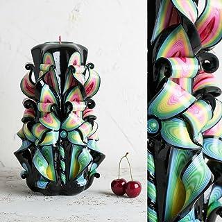 Candela Intagliata Per Uomo - Idea Regalo per Fidanzato - Gay Pride Colorato - Ornamentali Fatte a Mano - EveCandles