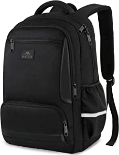 MATEIN High School Backpack, Laptop Backpacks for Men Women, Water Resistant Student Bookbag for College High School Girls Boys, Fits 15.6 Inch Laptops and Notebook, Black
