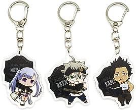 EBTY-Dreams Inc. - Set of 3 Black Clover Anime Acrylic Keychain Black Bull Asta, Noelle Silva, Yami Sukehiro