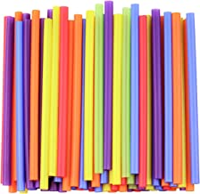 """[100 Count] Jumbo Smoothie Straws - 8.5"""" High - Assorted Colors"""