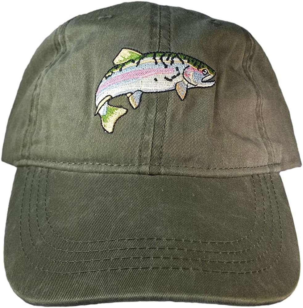 ECO Wear Embroidered Wildlife Ranking TOP20 Rainbow Cap All items in the store Baseball Trout