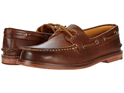 Sperry Gold Cup A/O 2-Eye Leather Sole (Cashew) Men