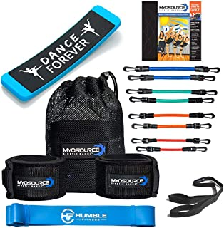 Kinetic Bands All-Star Dance Fitness Kit - Dance Resistance Band Set, Turning Board, Dance Stretch Band, Body Conditioning...